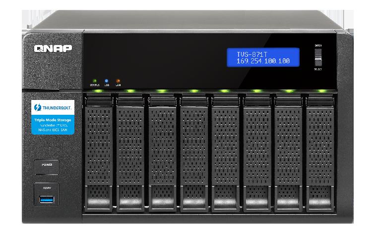 24736 1 - NAS QNAP TVS871T 8-BAY I5 4590 3.0GHZ 16GB