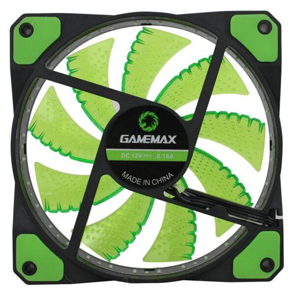 GMX GF12G 02 600x600 - FAN GAMEMAX PARA GABINETE 120MM GREEN GMX-GF12G