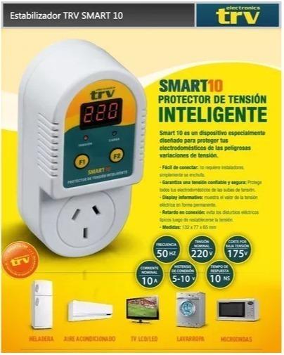 15232protector inteligente de tension trv 10amp 1 toma  - PROTECTOR DE TENSION TRV SMART 10