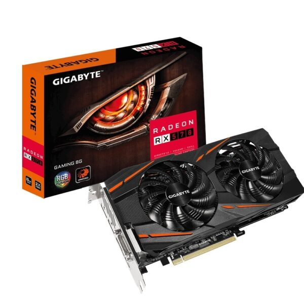 36097 GIGABYTE GV RX570GAMING 8GD 1 600x600 - PLACA DE VIDEO 8GB RX 570 GIGABYTE GAMING 8GD