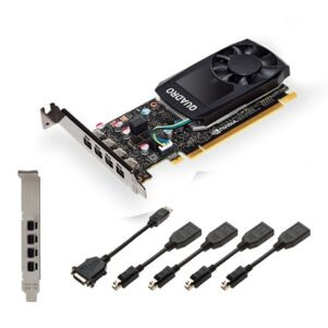 Comeros PNY VCQP1000V2 PB 1 301x301 - PLACA DE VIDEO  4GB QUADRO P1000 PNY D5 4 x mDP 1.4 V2